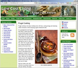 Frugal Cooking Recipes Site